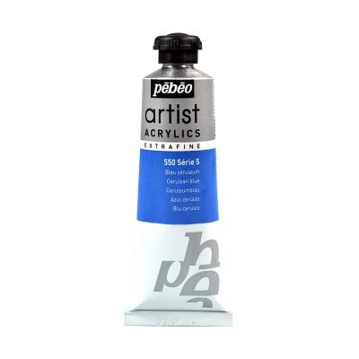 Акриловая краска Pebeo Artist Acrylics extra fine №5 церулеум синий 37 мл