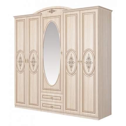 Платяной шкаф Мебель-Неман Василиса СП-001-05П NEM_CP-001-05P 226x62x225, дуб беленый