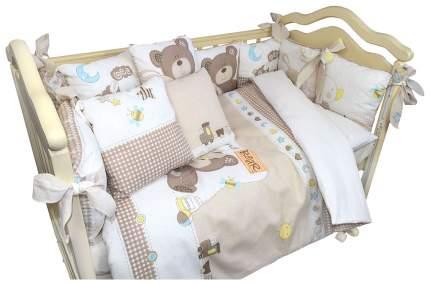 BOMBUS Комплект в кроватку Малыши, 6 предметов, цвет: бежевый