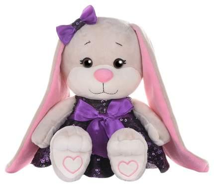 """Мягкая игрушка """"Зайка Lin"""" в фиолетовом платьице с пайетками 20 см JL-251-20 Jack and Lin"""