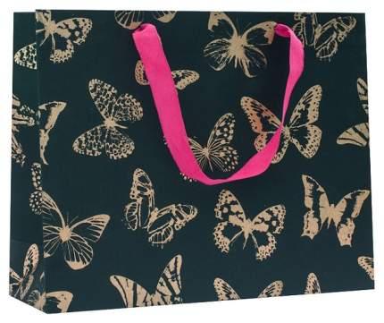 """Пакет подарочный """"Золотые бабочки"""", 31.8x25.5x10,8 cм"""