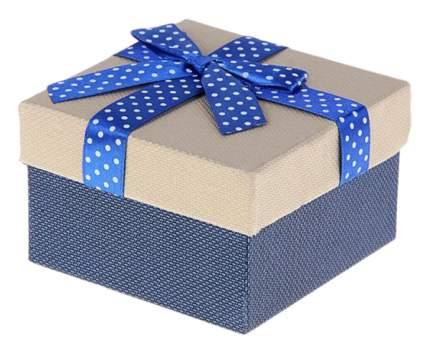 """Коробки подарочные """"Бант"""", 6 штук, 9x9x5,5 см, цвет: синий, арт. 1150628"""