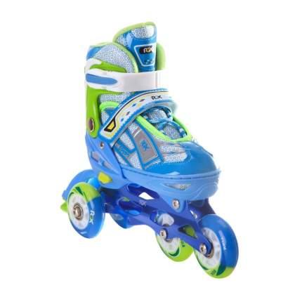 Раздвижные роликовые коньки RGX Yuppie Blue LED подсветка колес S 31-34