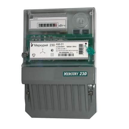 Счетчик электроэнергии Incotex Меркурий 230AM-01, 3 фазы, 1 тариф, 5А