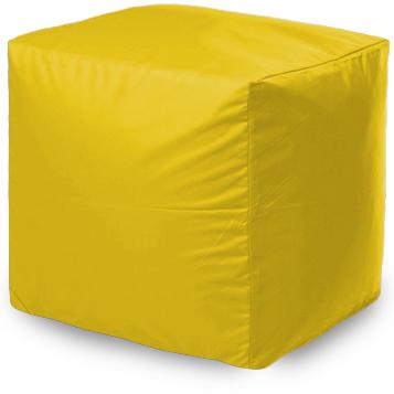 Пуф бескаркасный ПуффБери Квадратный Оксфорд, размер S, оксфорд, желтый