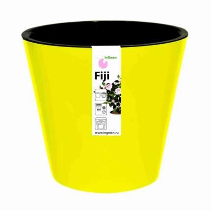 Горшок для цветов INGREEN ING1557ЖТЛ Фиджи D 330 мм/16 л на колесиках желтый
