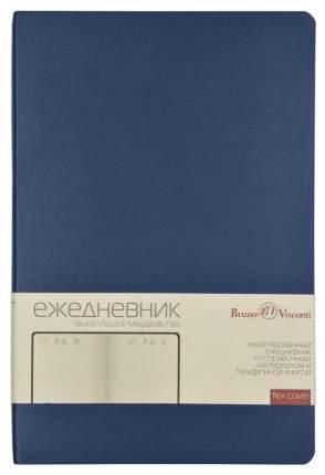 Ежедневник недатированный Альт «Megapolis Flex», А5, линия, 176 листов, темно-синий
