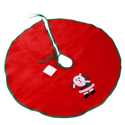 Покрывало для декорирования основания елки Веселый хоровод красное 1 шт 60 см
