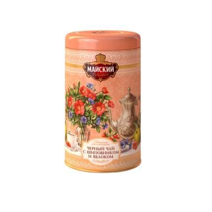 Чай Майский Шиповник и яблоко Дачная Коллекция черный с добавками 80 г