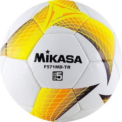Футбольный мяч Mikasa F571MD-TR №5 white/yellow