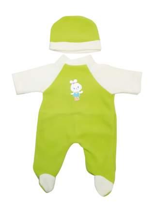 Комбинезон  Малыш для куклы Колибри 60 салатовый,белый