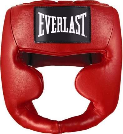Шлем боксерский Martial Arts Leather Full Face L/XL арт,7620LXLU (красный)