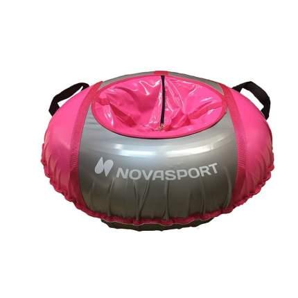 Санки надувные 90 см тент без камеры NovaSport розовый