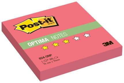 Блок самоклеящийся Post-it Optima 654-ONP Красный 100 шт