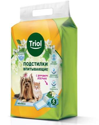 Подстилки Triol впитывающие с ароматом жасмина (400 х 500 мм, 6 шт)