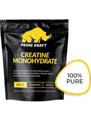 Креатин Prime Kraft Creatine Monohydrate 100% Pure, 500 г, unflavored