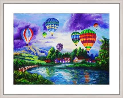 """Картина в багете 50х40 см """"Воздушные шары"""" Ekoramka BE-103-246"""