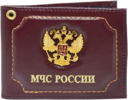 Обложка для удостоверения Mashinokom МЧС России бордовая
