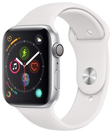 Смарт-часы Apple Watch Series 4 44mm Silver Al/White Sport Band (MU6A2RU/A)