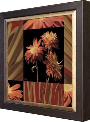 """Ключница """"Katrina Craven - Crimson Flowers"""" Венге"""