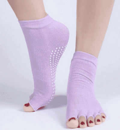 Носки для йоги Yogatops 698616 фиолетовые
