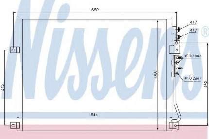 Радиатор кондиционера Nissens 94931