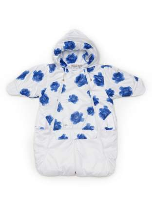 Комбинезон-трансформер конверт Malek-Baby для автолюльки весна-осень синие розы + белый