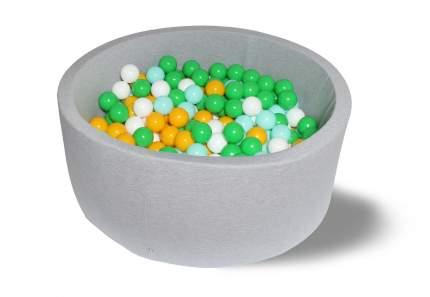 Сухой игровой бассейн Дискотека 40см с 200 шарами: белый, зеленый, мятный, желтый