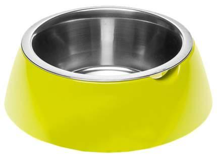 Одинарная миска для кошек и собак Ferplast, пластик, резина, сталь, зеленый, 1.2 л