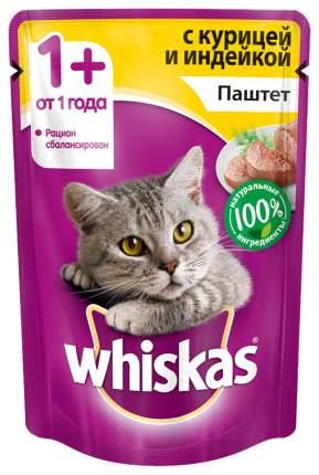 Влажный корм для кошек Whiskas паштет из курицы с индейкой, 24 шт по 85г