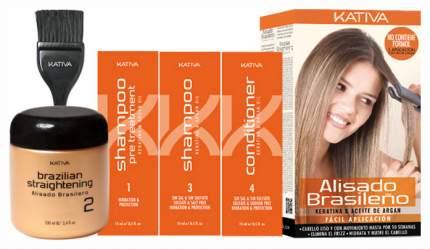 Набор средств для волос Kativa Keratina & Argan Oil Alisado Brasileño Sin Formol Kit