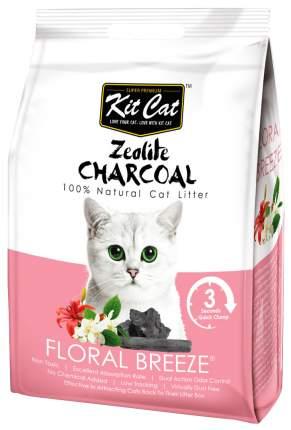 Комкующийся наполнитель туалета для кошек Kit Cat Zeolite Charcoal Floral Breeze 4 кг