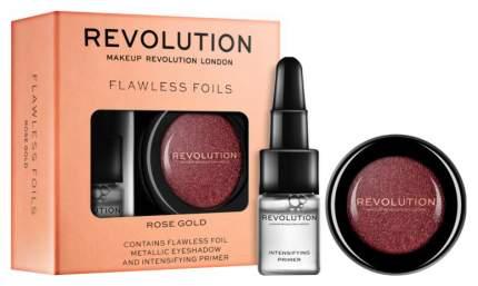 Наборы для макияжа Makeup Revolution Flawless Foils Rose Gold тени для век + праймер