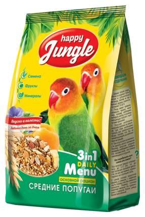 Основной корм Happy Jungle для средних попугаев 500 г, 1 шт