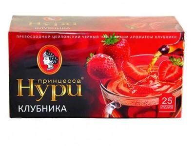 Чай черный Принцесса Нури клубника 25 пакетиков