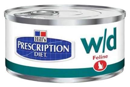 Консервы для кошек Hill's Prescription Diet w/d Digestive/Weight Management, курица, 156г