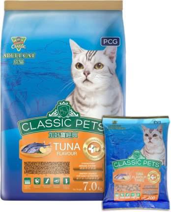 Сухой корм для кошек Classic Pets, тунец, 7кг