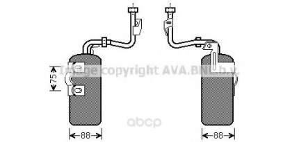 Радиатор кондиционера автомобильный Ava VOD165