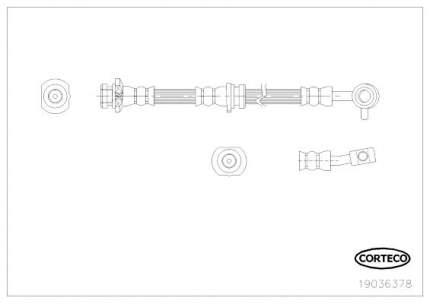 Шланг тормозной системы CORTECO 19036378
