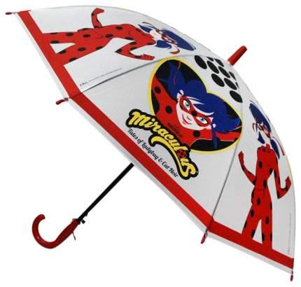 Детский зонтик Играем Вместе Леди Баг прозрачный со свистком 50 см