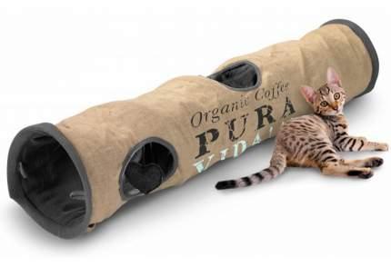 Тоннель для кошек Ebi Pura Vida, шуршащий, серый, 120х25х25 см