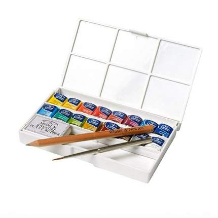 Акварель Winsor&Newton Cotman Deluxe Sketchers' Pocket Box 16 цветов