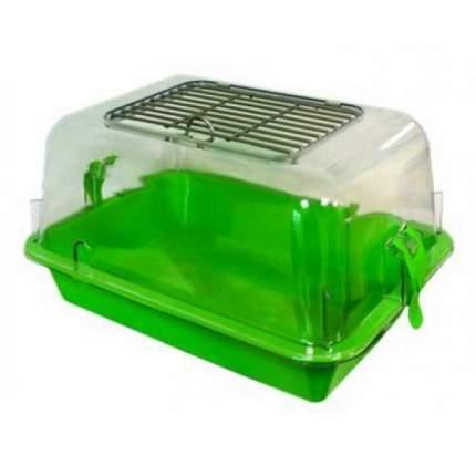 Террариум для черепах ZooExpress, зеленый, 42 x 22,5 x 30,5 см