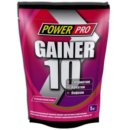 Гейнер PowerPro Gainer 10 1000 г лесная ягода