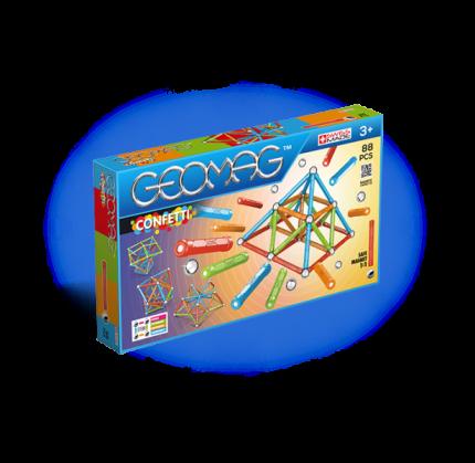 Магнитный конструктор GEOMAG 353 Confetti 88 деталей