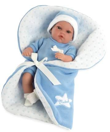 Пупс ARIAS Elegance с голубым одеялком, с соской, 33 см, Т13726
