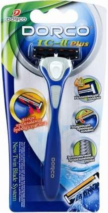 Станок для бритья Dorco TG-II Plus с 2 лезвиями, прорезиненная ручка