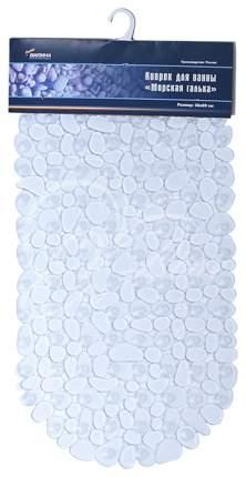 Коврик для ванной Вилина Морская Галька 6805 69х36 см Прозрачный