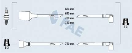 Комплект проводов зажигания FAE 83750