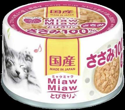 Консервы для кошек AIXIA «MiawMiaw» Tobikiri, куриное филе в нежном желе 60г